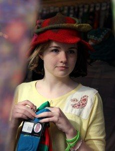 maddie-red-hat